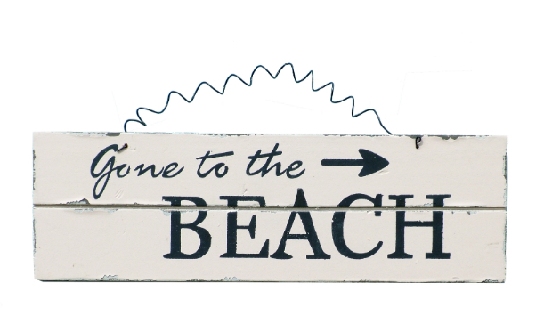 Gone To The Beach Sign, Coastal Home £6.99