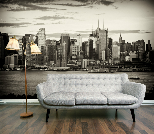 Vintage New York Wallpaper Mural, DigetexHome.co.uk