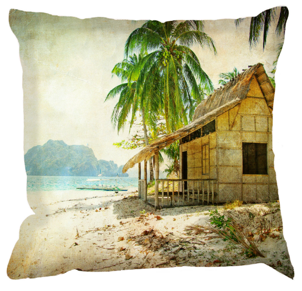 Hawaii Beach Shack Cushion, DigetexHome.co.uk £30.00
