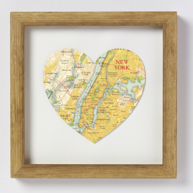 New York Heart Map, In-Spaces £45.00