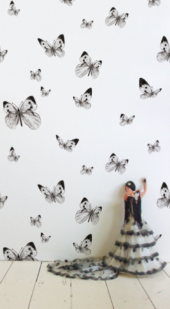 Wallpaper 'Butterfly' Repeat Collection, Butterfly Valley, In-Spaces £199.00