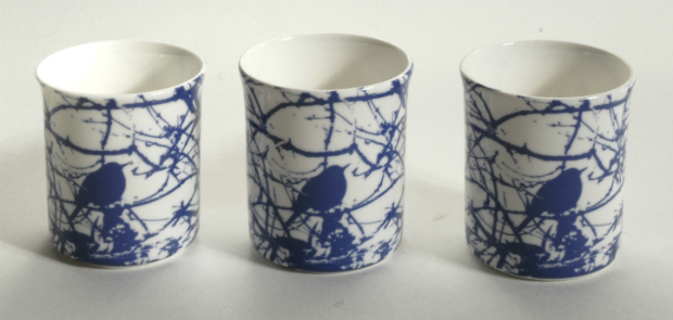 Blue and White Tea Light Candle Holder, In-Spaces £16.00