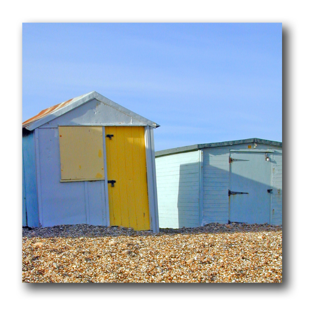 Blue Beach Huts Outdoor Art Canvas, Insideout Garden Art £204.00