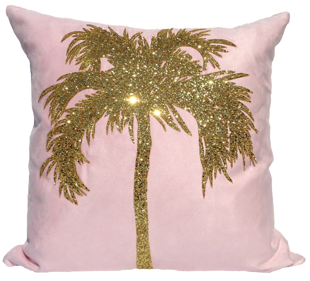Bitten London- Palm Tree Cushion, LuxDeco £85.00