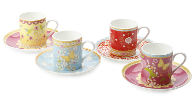 Enchante China Espresso Set, MOLLIE & FRED £34.99