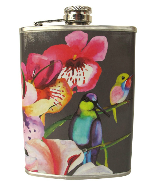 Disaster Designs Havana Tropical Hip Flask, MOLLIE & FRED £12.99