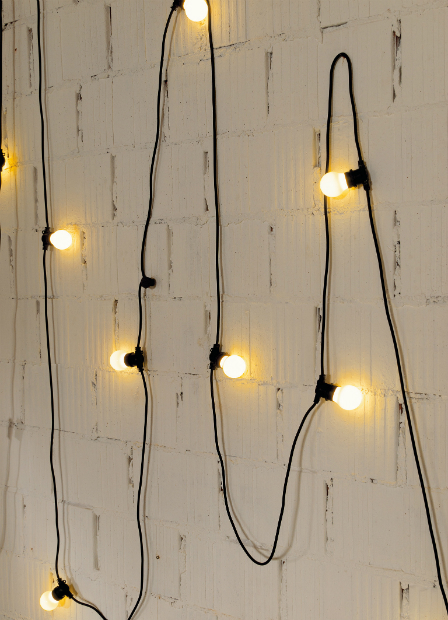 Outdoor Garland Lighting, Out There Interiors £85.00