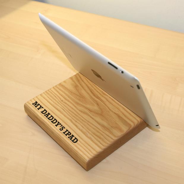 Personalised Oak iPad Holder, Plantabox £19.95