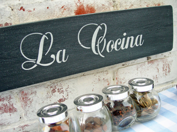 La Cocina Spanish Kitchen Sign, Not on the High Street £35.00