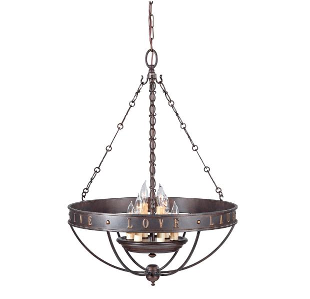 6-light Grecian Bronze Chandelier, Overstock.com £259.18