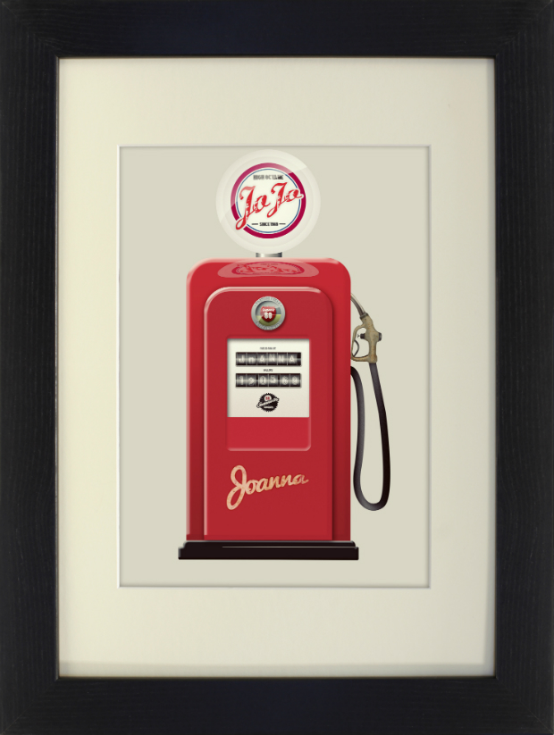 Personalised Retro Americana Red Gas Pump, Yoofiti Limited £19.99