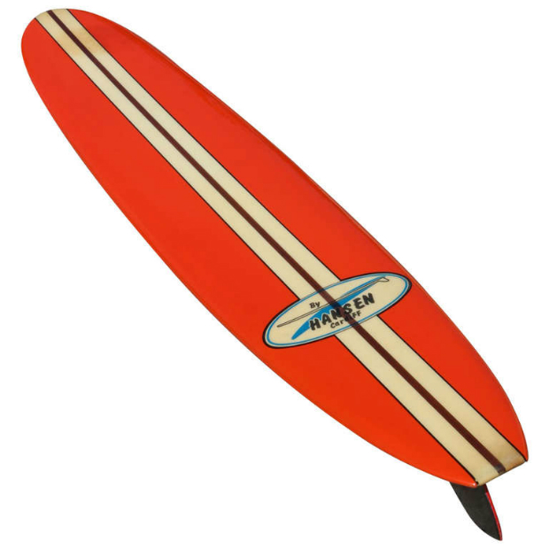 All Original Early 1960s Hansen Surfboard, Surfing Cowboys $2,950.00