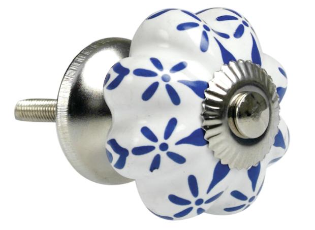 Blue Raindrops Ceramic Drawer Knob, Dotcomgiftshop £2.99