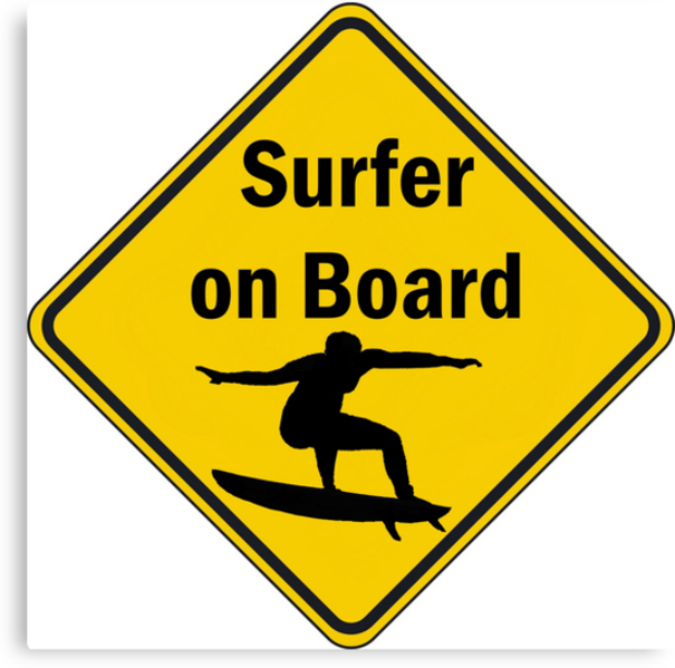Surfer On Board Canvas, RedBubble £46.50