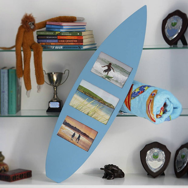 Surf Board Photo Frame, Not on the High Street £29.95