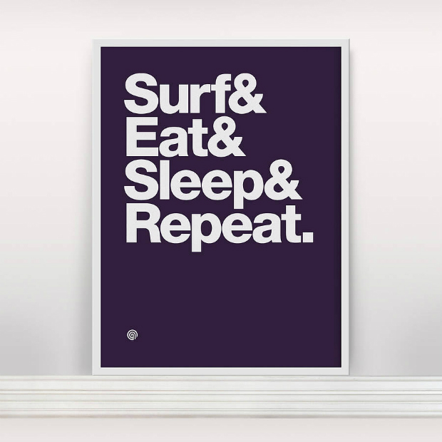 'Surf And Eat' Screen Print, Not on the High Street £29.00
