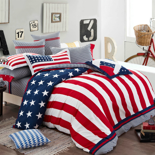 Patriotic Stars and Stripes Bedroom, Source