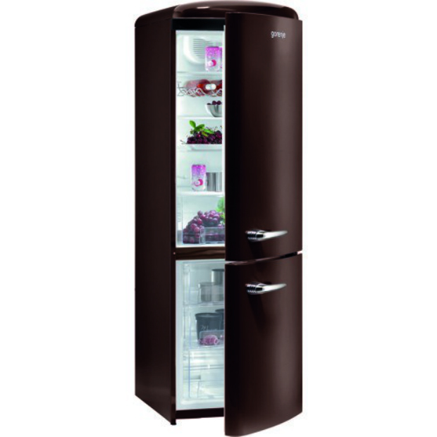 Retro Style Freestanding Fridge Freezer Dark Chocolate, BHS £748.00