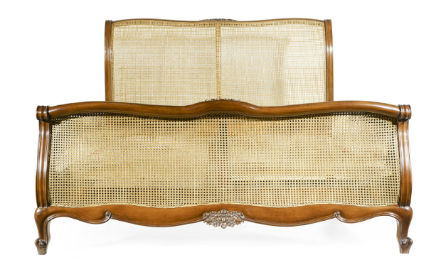Caned Louis XV bed, Oficina Inglesa