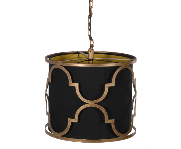 Moorish Black & Gold Shade Pendant, Alexander & Pearl £95.00