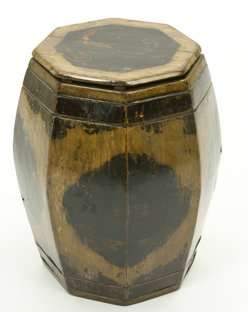 Hand-Painted Drum Stool, Orchid Furniture £299.00