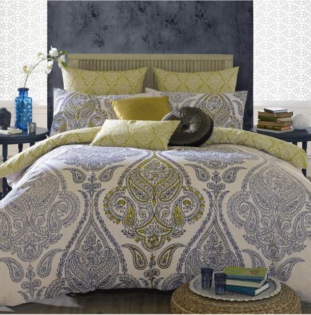Elizabeth Hurley Lamara Sapphire Duvet Cover, Terry's Fabrics