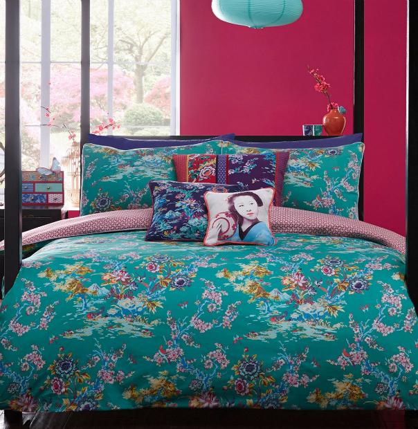 Japanese Chinoise bedding set, Debenhams