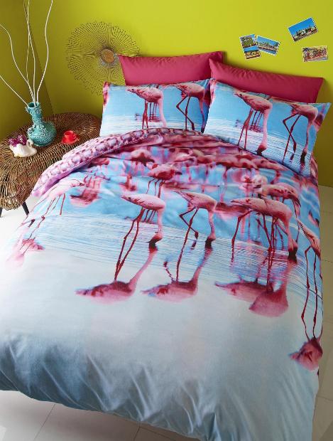 Catherine Lansfield Flamingo Duvet Cover Set, Very £17.00 - £30.00
