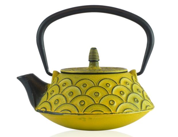 Yellow Kasumi Cast Iron Tea Pot, The Exotic Teapot £34.00