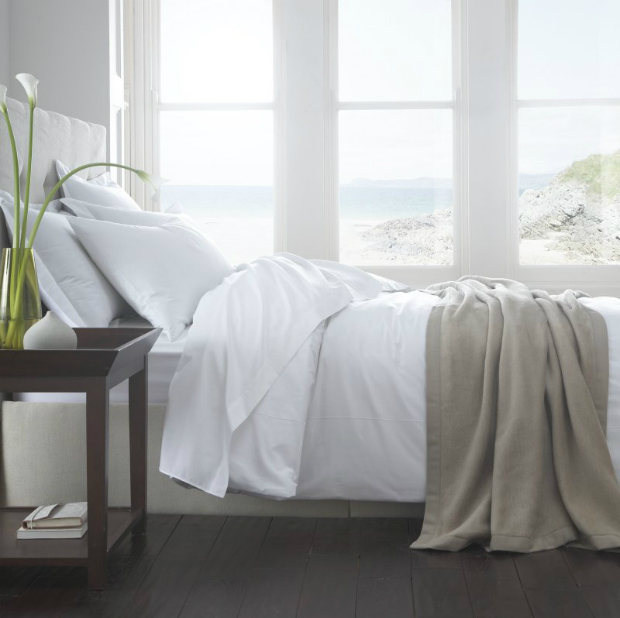 Vienna 200TC Organic Percale Duvet Cover, The Fine Cotton Company £45.00