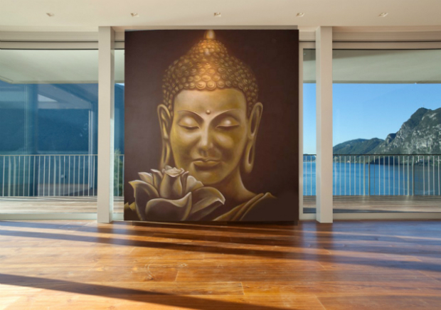 Buddha Feature Wall, Wallpapered.com £32.00