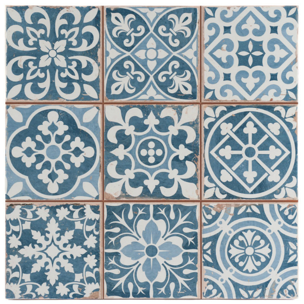 Tangier Blue Decor Tile, Tons of Tiles