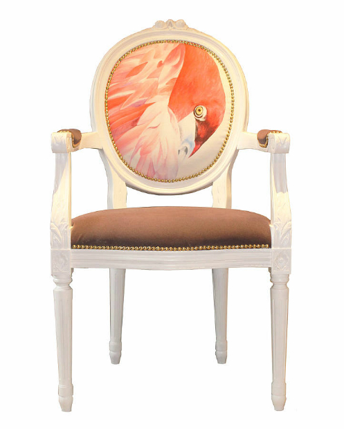 French Dining Chair With Flamingo, Not on the High Street £525