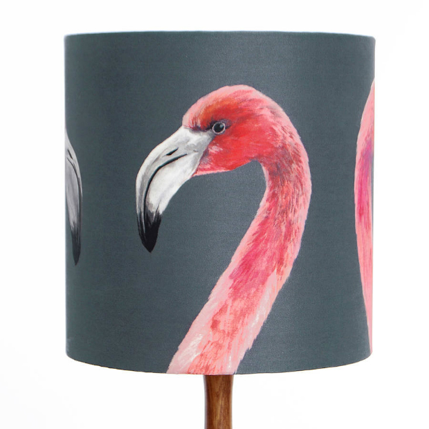 Flamingo Lampshade by Katie & the Wolf, Not on the High Street £57.00