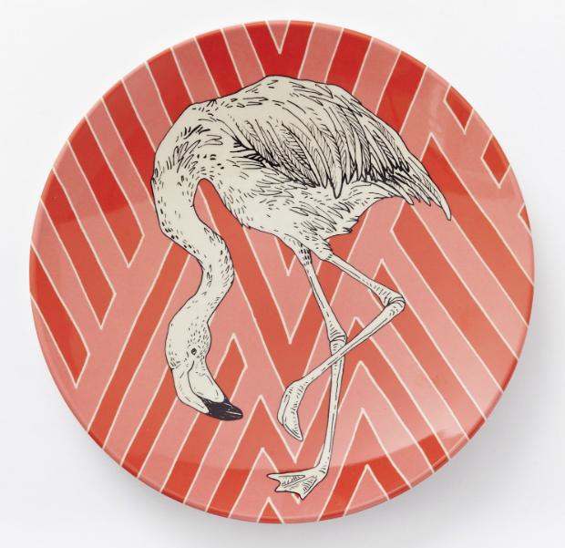 Animal Geo Melamine Plate Flamingo, West Elm £6.00