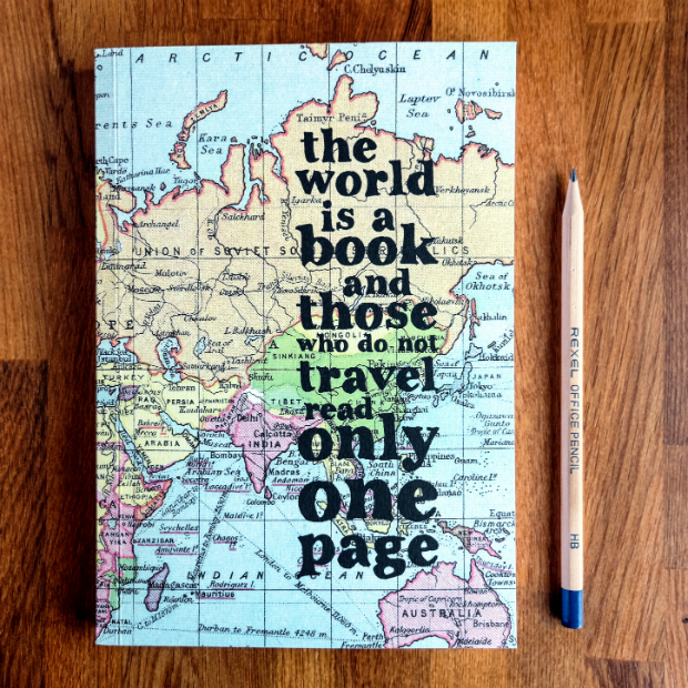 Inspirational Quote Travel Journal 'The world is a book', In-Spaces £12.00
