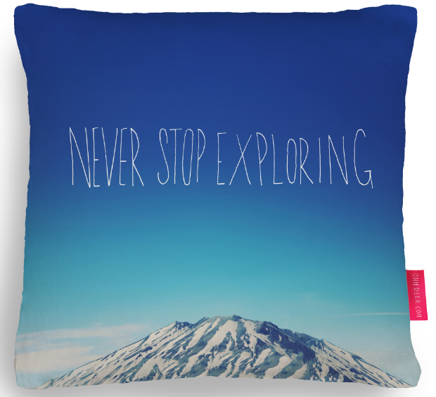 Never Stop Exploring Cushion, Ohh Deer £34.95