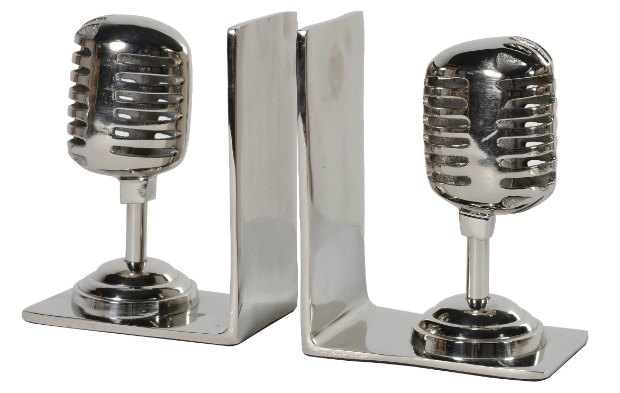 Microphone bookends, Marquis & Dawe £55.00