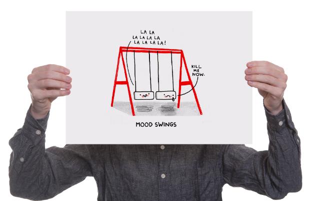 Mood Swings Print, Ohh Deer £14.95