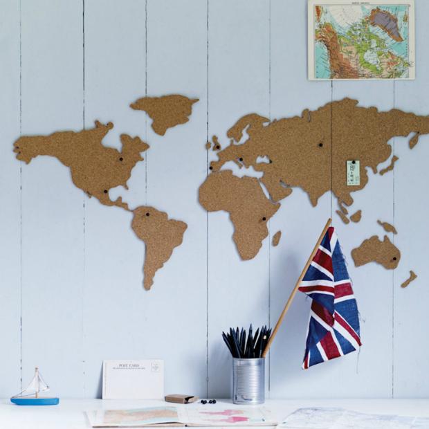 World Map Pin Board, TheGreatGiftCompany.co.uk £25.00