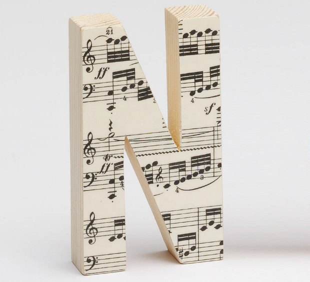 Vintage Music Letters, Not on the High Street £10.00