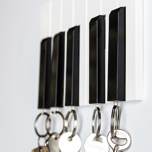 Qualy Piano Whistle Keychain Holder, The Gift Oasis £24.99