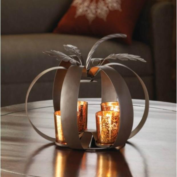 Halloween Pumpkin Tealight Candle Holder, Bonanza Market £20.53