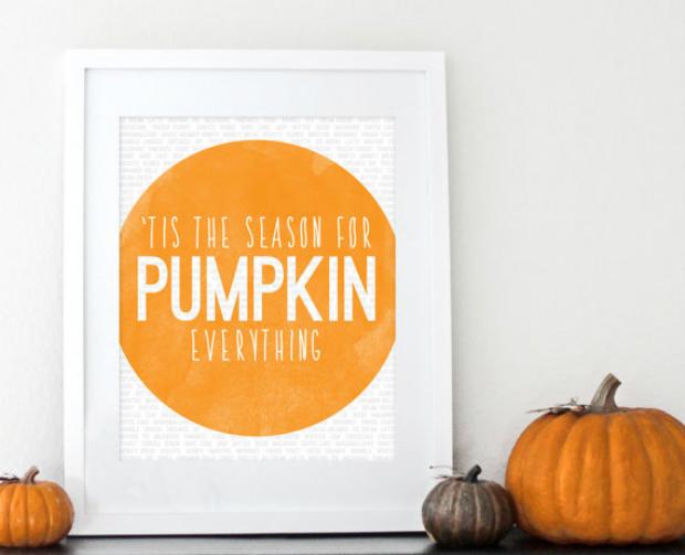 Pumpkin Poster, Etsy £10.21