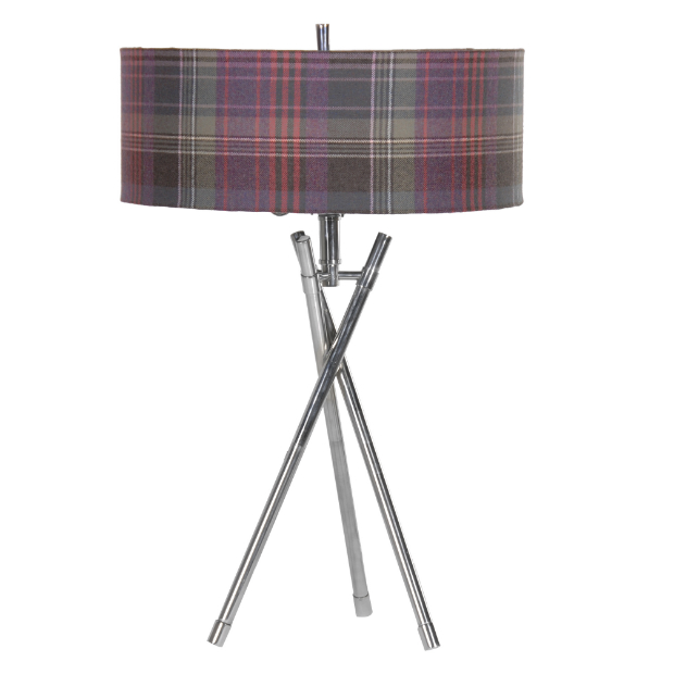 Arran Crimond Heather Tartan Table Lamp, Alexander & Pearl £245.00