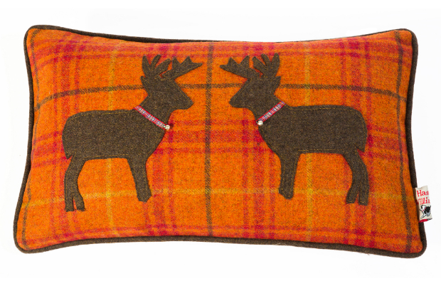 Hannah Williamson Pumpkin Spice Kissing Stags Cushion, Cotswold Training £45.00