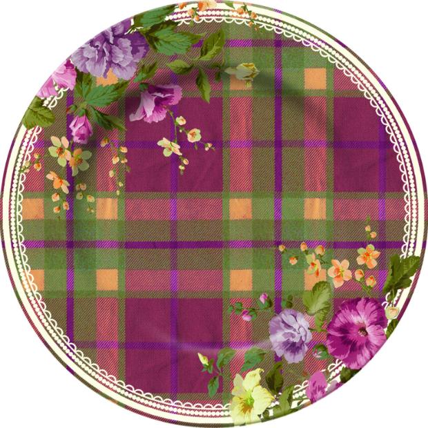 Katie Alice Highland Fling Tartan Floral Side Plate, Creative Tops £5.99
