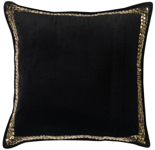 BIBA Black Velvet Sequin Cushion, House of Fraser £40.00