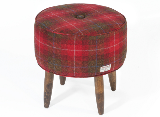 Tartan Stool, Lana Button £395.00