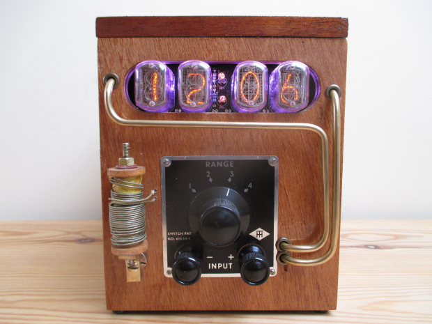 Original Steampunk Galvanometer Nixie Clock, Furnish £185.00